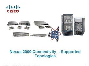 1 K Cisco Nexus x 86 Nexus 2000