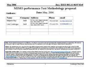 May 2006 doc IEEE 802 11 060742 r