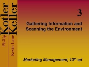 3 Gathering Information and Scanning the Environment Marketing