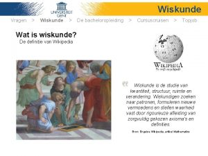 Wiskunde Vragen Wiskunde De bacheloropleiding Cursuscruisen Topjob Wat