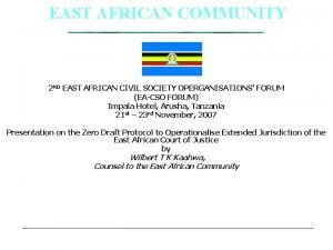 EAST AFRICAN COMMUNITY 2 ND EAST AFRICAN CIVIL