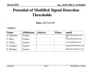March 2015 doc IEEE 802 11 150300 r