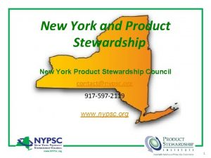 New York and Product Stewardship New York Product