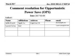 March 2017 doc IEEE 802 11 170397 r