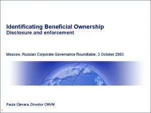 Identificating Beneficial Ownership Disclosure and enforcement Moscow Russian
