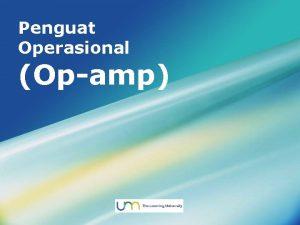 Penguat Operasional Opamp LOGO Menu Utama Pengertian Opamp