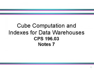Cube Computation and Indexes for Data Warehouses CPS