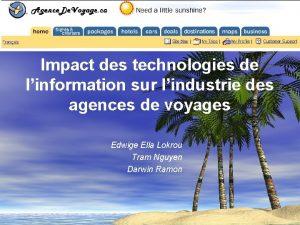 Impact des technologies de linformation sur lindustrie des
