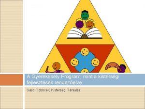 A Gyerekesly Program mint a kistrsgi fejlesztsek rendezelve