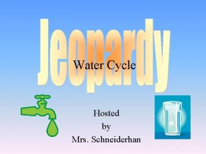 Water Cycle Hosted by Mrs Schneiderhan Choice 1