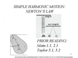 SIMPLE HARMONIC MOTION NEWTONS LAW simple not simple