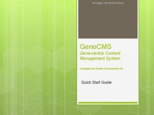 Postgen Tech Pro Content Geno CMS Genecentric Content