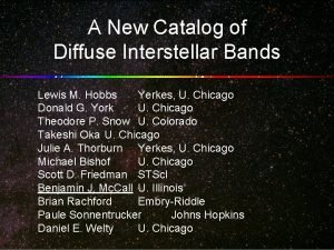 A New Catalog of Diffuse Interstellar Bands Lewis