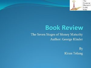 Book Review The Seven Stages of Money Maturity