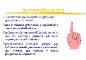 INFORMAES GERAIS 4 As emprsas que integram a