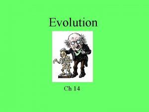 Evolution Ch 14 How did it begin Big