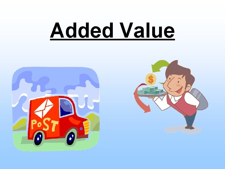 Added Value Today Understand what added value is
