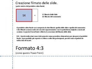 Creazione filmato delle slide parte sinistra del prodotto