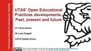 Tasmanian Institute of Learning and Teaching UTAS Open