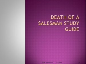 Death of a Salesman 1122020 1 Author Biographical