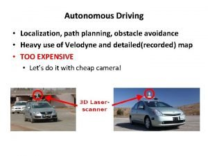 Autonomous Driving Localization path planning obstacle avoidance Heavy