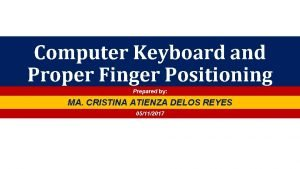 Computer Keyboard and Proper Finger Positioning Prepared by