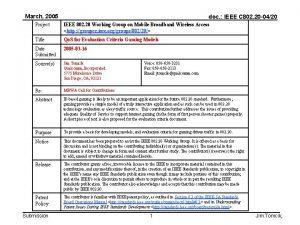 March 2005 doc IEEE C 802 20 0420