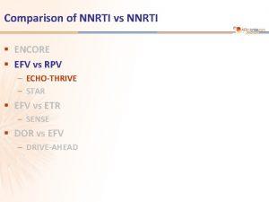 Comparison of NNRTI vs NNRTI ENCORE EFV vs