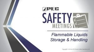 Flammable Liquids Storage Handling Proper handling and storage