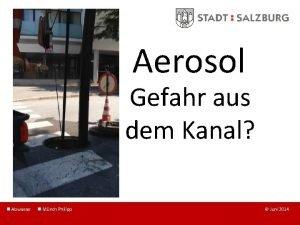 Aerosol Gefahr aus dem Kanal Abwasser Mnch Philipp