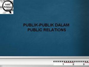 PUBLIKPUBLIK DALAM PUBLIC RELATIONS Dalam Public Relations PR