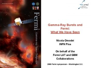GammaRay Bursts and Fermi What We Have Seen