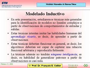 Modelado Matemtico de Sistemas Fsicos Modelado Inductivo En
