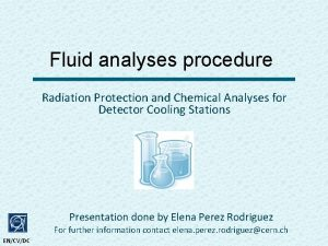 Fluid analyses procedure Radiation Protection and Chemical Analyses