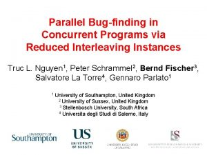 Parallel Bugfinding in Concurrent Programs via Reduced Interleaving