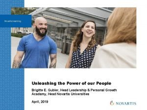 Novartis learning Unleashing the Power of our People