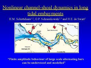 Nonlinear channelshoal dynamics in long tidal embayments H