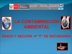 LA CONTAMINACIN AMBIENTAL GRADO Y SECCIN 4 F