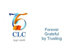 Forever Grateful by Trusting Trusting the Heart of