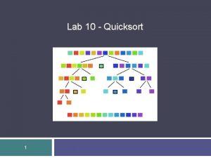 Lab 10 Quicksort 1 Lab 10 Quicksort 2