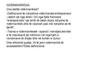 NDRMARRSIA ka sht ndrmarrsia Definicione t ndryshmendrmarrsentrepreneur daton