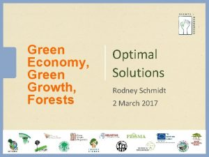 Green Economy Green Growth Forests Optimal Solutions Rodney
