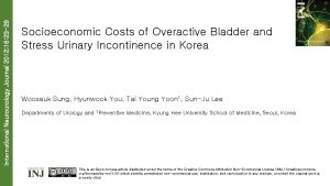 International Neurourology Journal 2012 16 23 29 Socioeconomic