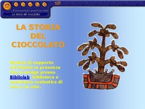 La storia del cioccolato LA STORIA DEL CIOCCOLATO