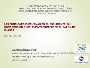 DIRECCIN GENERAL DE ESCUELAS DIRECCIN DE EDUCACIN PRIMARIA