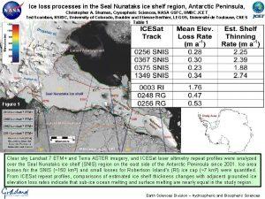 Ice loss processes in the Seal Nunataks ice