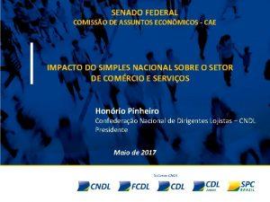 SENADO FEDERAL COMISSO DE ASSUNTOS ECONMICOS CAE IMPACTO