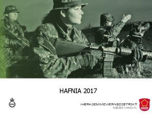 HAFNIA 2017 Forml og ml Forml Gennem en