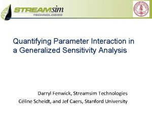 Quantifying Parameter Interaction in a Generalized Sensitivity Analysis