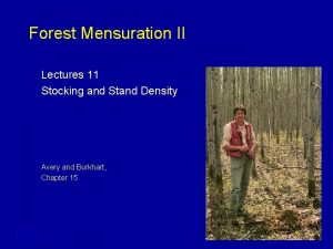 Forest Mensuration II Lectures 11 Stocking and Stand
